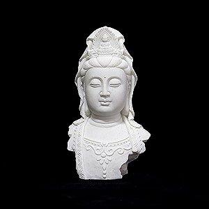 Busto Kuan Yin Pequeno Branco