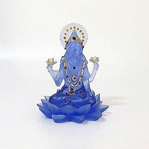 Lakshmi Azul na Flor de Lótus