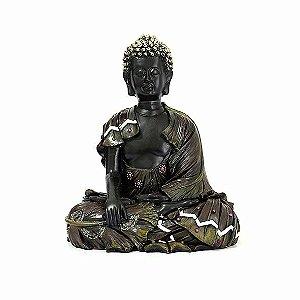 Buda Tibetano Meditando  Marrom