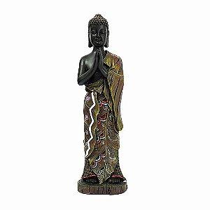 Buda Tibetano Meditando em Pé Marrom
