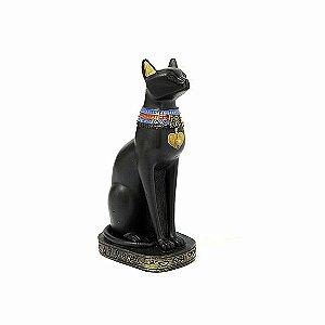 Estatueta Egípcia Gato Bastet 19 Cm