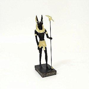 Estatueta Deus Anúbis 22 Cm