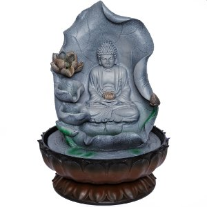 Fonte Buda Tibetano Meditando Folha