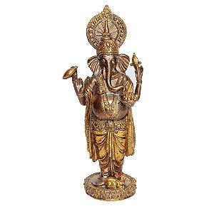 Ganesha Dourado em Pé