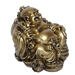 Buda Sorridente Ouro Velho