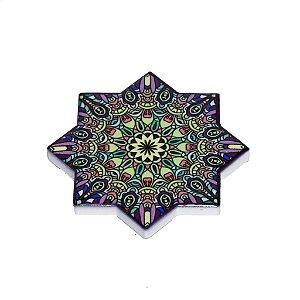 Imã Mandala Estrela  em Cerâmica