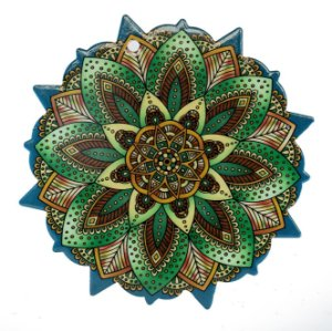 Mandala em Cerâmica Para Parede