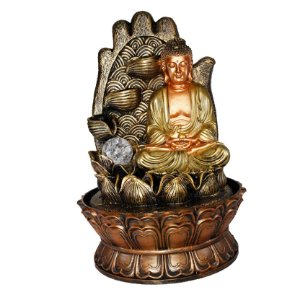 Fonte Buda na Mão e Flor de Lótus