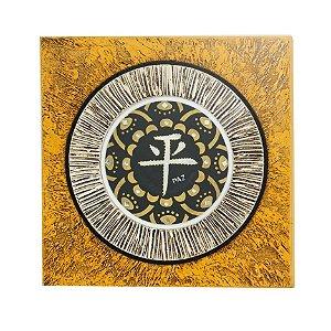 Quadro Símbolo Paz 30x30 - Cores
