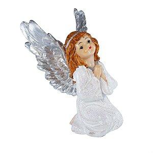 Estatueta Anjo Sentado Gratidão