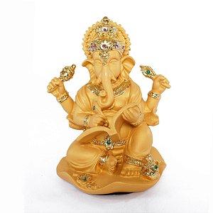 Estatueta Ganesha Dourada