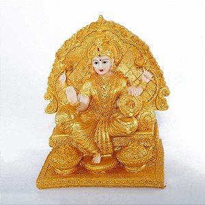 Estatueta Lakshmi no Trono Dourado