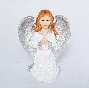 Estatueta Anjo de Joelhos Gratidão