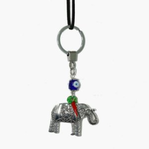 Chaveiro Elefante com Olho Grego e Pimenta