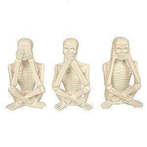Trio de Esqueletos Branco 3 Sentidos