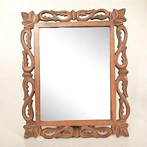 Espelho Moldura de Madeira
