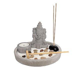 Jardim Zen Cinza Ganesha