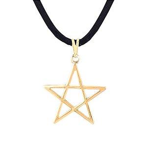 Gargantilha Pentagrama 25mm