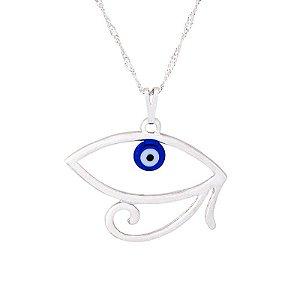 Gargantilha Olho de Hórus com Olho Grego 30mm