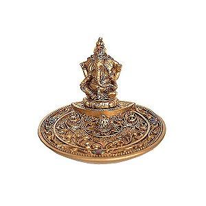 Incensário Prato Ganesha com Strass