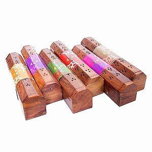 Incensário Baú com Incensos - Diversos Aromas
