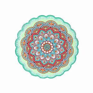 Descanso de Panela Mandala em Cerâmica