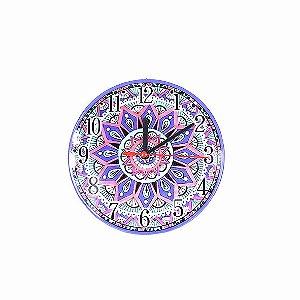 Relógio de Mesa e Parede Mandala em Cerâmica