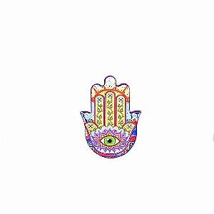 Imã Mão Hamsá em Cerâmica