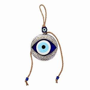 Mobile Olho Grego com Corda Prata