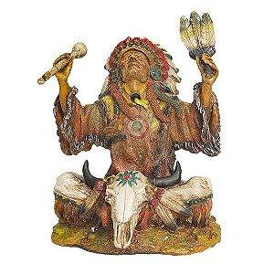 Índio Xamã Sentado