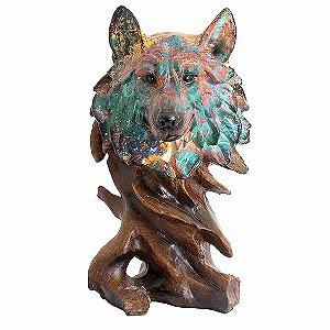 Busto Lobo Colorido