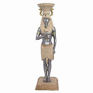 Estatueta Tutankhamon Marmorizado