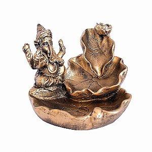 Incensário Cascata Ganesha na Folha