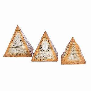 Trio de Pirâmides Egípcias