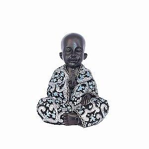 Monge com Manto Azul