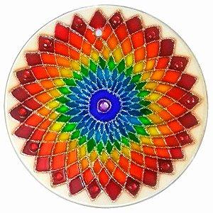 Mandala Flor Laranja - Extra Grande