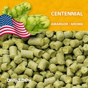 Lúpulo Centennial - kilo em pellet