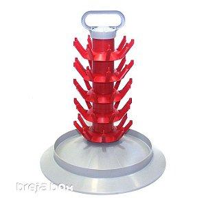Escorredor de garrafas com eixo fixo para 45 unidades Breja Box