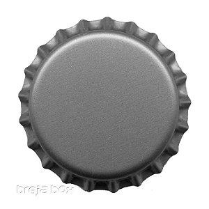 Tampinha de garrafa prata - 100 unidades |PRY OFF - Breja Box