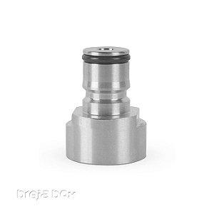 Adaptador Ball Lock Inox Gás Válvula S - Breja Box