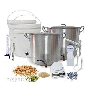 Kit equipamentos para produção de cerveja caseira Breja Box