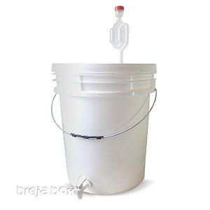 Balde fermentador / maturador para cerveja caseira - COMPLETO | Breja Box