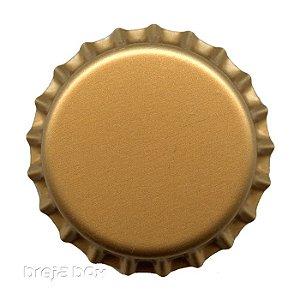 Tampinha de garrafa Dourada - 100 unidades |PRY OFF - Breja Box