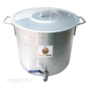 Panela Cervejeira 32 litros para mostura / fervura - Breja Box