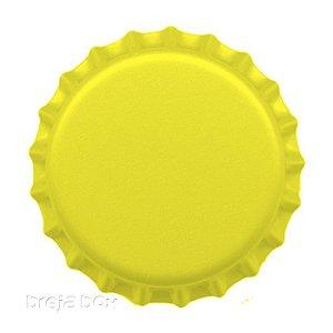 Tampinha de garrafa Amarela - 100 unidades |PRY OFF - Breja Box