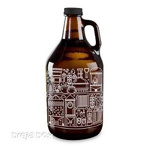 Growler Processo Cervejeiro padrão americano 1,89lt | Breja Box