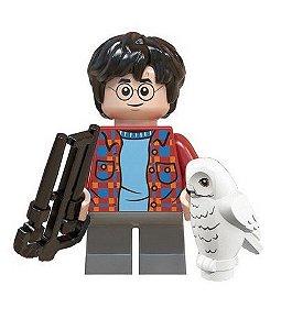 Boneco Compatível Lego Harry Potter e Edwiges - Harry Potter (Edição Especial)