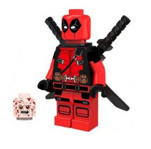 Mini Figura Compatível Lego DeadPool Marvel