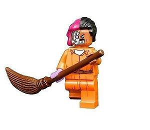 Boneco Compatível Lego Duas Caras Prisioneiro - Dc Comics