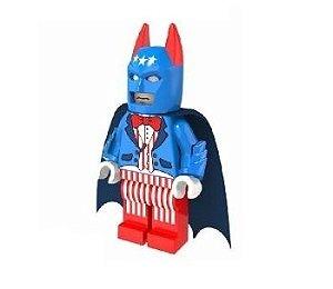 Boneco Compatível Lego Batman Patriota - Dc Comics (Edição Deluxe)
